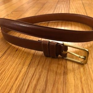 Coach Brown Leather Belt 5700 Rust Gold Harness US